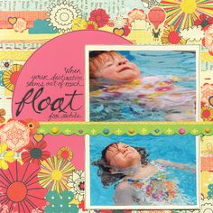 Float For a While - Scrapbook.com - #scrapbooking #layouts