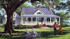 Elevation of Cottage   Country   Farmhouse  Traditional   House Plan 86226