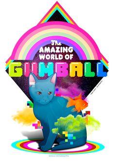 Gumball - The amazing World of Gumball. Darwin, peixe dourado. Gato azul