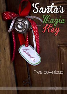 FREE download- Santa's magic key poem and tag!  Just in case you have any friends without a chimney.