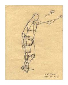 Karl Hermann Haupt 1904 - 1983  Action Drawing 1923 (from the class of Paul Klee)