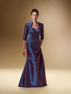 A-line Sweetheart 3/4 Sleeves Jacket Taffeta Mother of the Bride Dresses Under 200 99801042
