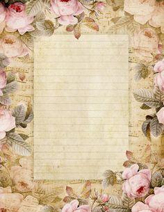 Vintage Roses Stationery Paper