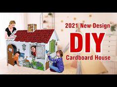 2021 NEW Design Funny cardboard Diy playhouse Cardboard Playhouse, Diy Playhouse, Cardboard Display, Diy Cardboard, News Design, Diy Design, Play Houses, Holiday Decor, Funny