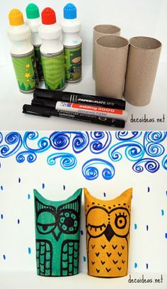 Toilet Paper Roll Owls | 21 Toilet Paper Roll Craft Ideas