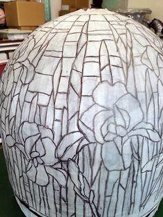 アイリスのステンドグラス・ランプシェード » Stained glass Vis-à-Vis , Layered glass and more...