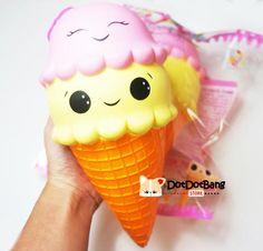 Licensed 8 inch Super Jumbo Ice Cream Squishy