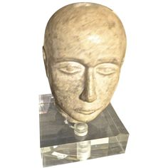 Stone Bust | From a unique collection of antique and modern more folk art at http://www.1stdibs.com/furniture/folk-art/more-folk-art/