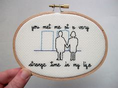 Fight Club - Very Strange Time cross stitch | Community Post: 17 Gifts For The Film Buffs On Your List