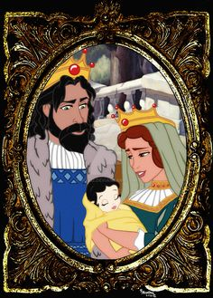 Snow White's Mother and Father, the Good Queen and King