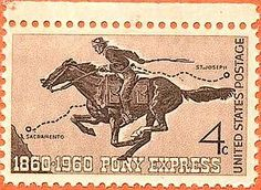 Pony Express 100 anniversary issue of 1960