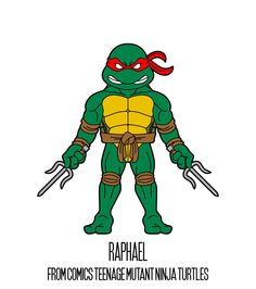 RAPHAEL  http://herosandvillains.tumblr.com/post/12234766356 by TM