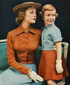 Mother and daughter outfits-Vogue 1951.
