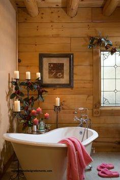 Log Home Love the walls