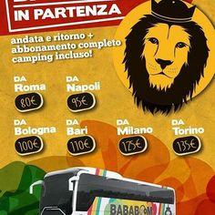 Vieni al Bababoom Festival con il bus. Viaggio andata e ritorno + abbonamento completo camping incluso!!! Offerta valida fino al 30 aprile o ad esaurimento posti. Acquista il ticket qui ~> http://shop.bababoomfestival.it/bababus  #bababoomfestival #bababoom2016 #bababus #bababoombybus #tickets #offerta #promozione #abbonamento #viaggio #bus #roma #napoli #bologna #bari #milano #torino #reggaemusic #dafarenellemarche #exploringmarche #igersfermo #igersmarche #igersitalia #marchetourism…