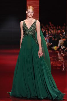 Or you could try this flawlessly beaded Elie Saab gown.