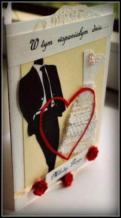 Kartka+ślubna+garnitur+i+sukienka+hand+made.JPG (332×600)