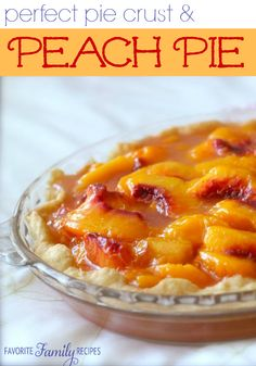 This Perfect Pie Crust / Peach Pie works GREAT for peach pie or strawberry pie! It's so flaky and GOOD! You won't want to use store-bought again!