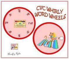 Free CVC Word Wheel