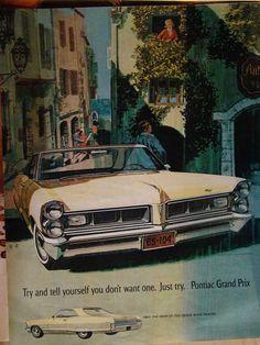 Pontiac Grand Prix ad, 1964