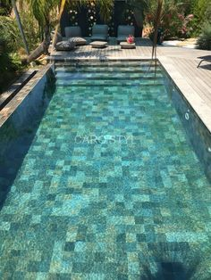 Pool decks are the hardscape areas that surround the pools. They prevent the bare feet from stepping into mud as well as providing an epic transition from lawns to the pool. Swimming Pool Tiles, Small Swimming Pools, Small Backyard Pools, Backyard Pool Designs, Swimming Pools Backyard, Swimming Pool Designs, Pool Decks, Pool Landscaping, Outdoor Pool