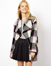 ASOS Checked Wrap Light Weight Coat