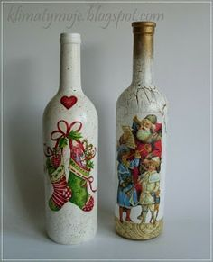 santa claus en botellas de vidrio - Google Search