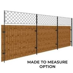 The Harrod Wall Top Panels provide attractive screening above brick or stone walls, ideal for training plants and adding privacy between neighbouring Wire Trellis, Trellis Panels, Fence Gate, Fences, Compound Wall, Boundary Walls, Garden Screening, Aluminum Fence, Fence Design