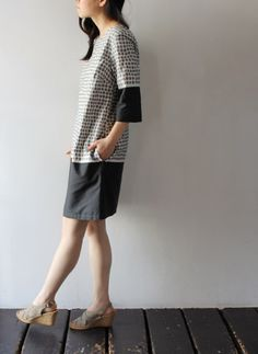 marimekko dress: Way to color block Colette Laurel Dress pattern Simple Dresses, Cute Dresses, Pretty Outfits, Beautiful Outfits, Marimekko Dress, Colette Patterns, Diy Clothes, Clothes For Women, Casual Outfits