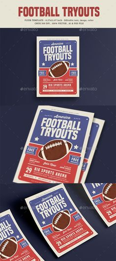 Football Tryouts Flyer — Photoshop PSD #sports #football • Available here ➝ https://graphicriver.net/item/football-tryouts-flyer/20612477?ref=pxcr