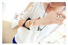 Stylish Metallic Square Bracelet    $9.72