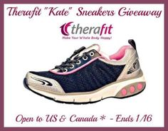 Therafit Kate Sneakers Giveaway ~ open to USA & CAN!!  http://africasblog.com/2015/01/04/therafit-kate-sneakers-giveaway/