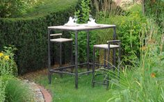 MALAGA Bartisch 127 Malaga, Modern, Outdoor, Bar, Table, Furniture, Home Decor, Recyle, Wood