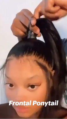 Weave Ponytail Hairstyles, Braids Hairstyles Pictures, Baddie Hairstyles, Hairdos, Hair Ponytail Styles, Cute Ponytails, Curly Ponytail, Kids Hairstyles For Wedding, Coiling Natural Hair
