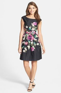 Pretty black floral dress