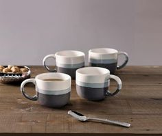 Buy Set Of 4 Anya Dipped Mugs from the Next UK online shop