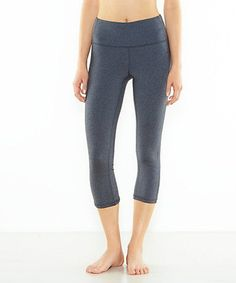 Look what I found on #zulily! Asphalt Heather Perfect Core Capri Leggings #zulilyfinds