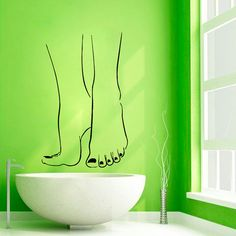 Pedicure Wall Decals Girl Legs Spa Decor by WallDecalswithLove