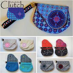 Schnabelinas Welt: SchnabelinaClutch - Der Nähwettbwerb! Bag Patterns To Sew, Tote Pattern, Sewing Patterns Free, Sewing Tutorials, Bag Tutorials, Free Sewing, Clutch Tutorial, Zipper Pouch Tutorial, Diy Coin Purse