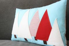 Holiday Forest Christmas Tree Pillow - Robins Egg Blue. $39.00, via Etsy.