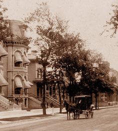 The 2100 block of Prairie Avenue in the 1890s