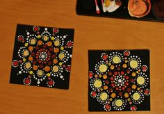 diy dotted pattern coasters awsome symmetry