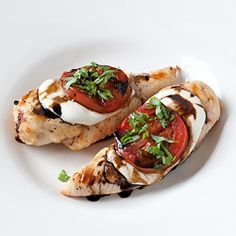Grilled Caprese Chicken HealthyAperture.com