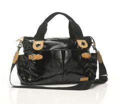 The Kate Storksak Designer Diaper Bag In Patent Black Is A Celebrity Favorite