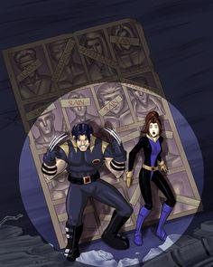 X-Men Evolution: Days of Future Past with a spotlight added. #xmen #xmenevolution