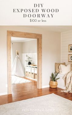 Home Renovation, Home Remodeling, Exposed Wood, Home Upgrades, Wood Beams, Interior Exterior, Home And Living, Living Room, Diy Home Improvement