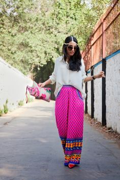 STYLE FIESTA: May 2015 / Masoom Minawala / SF / Style Fiesta / Fashion Blogger / Indian Fashion Blogger / Printed Pants / Head Chain / JOTD / OOTD / Fashion Photography / Style / Outfit Ideas / Outfit Inspiration / Clutch / Ethnic / Tumblr / Sunnies / Sunglasses