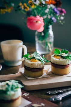 eggs benedict cumberbatch - from Molly Yeh Benedict Cumberbatch, Brunch Recipes, Breakfast Recipes, Breakfast Ideas, Breakfast Club, How To Cook Polenta, Good Food, Yummy Food, Incredible Edibles