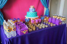 MoroccanBday-25 – SAROM INspired Jasmine Birthday Cake, Aladdin Birthday Party, Aladdin Party, Princess Birthday Party Decorations, Disney Princess Birthday, Birthday Party Centerpieces, Frozen Birthday Party, 6th Birthday Parties, 4th Birthday