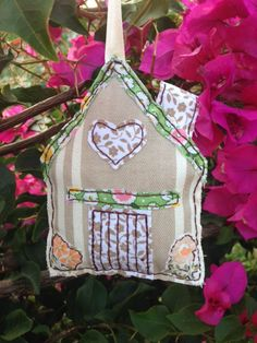 Country Cottage about 10 x 12 cm, lightly padded and all hand stitched. 6 pounds + postage